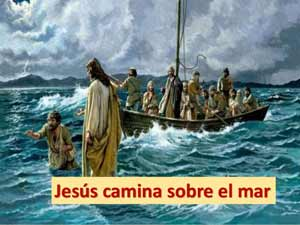 Jésus camina sobre el agua