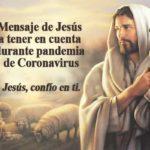 Mensaje de Jesús a tener en cuenta durante pandemia de Coronavirus