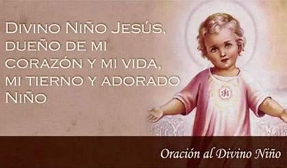 oración divino niño Jesús