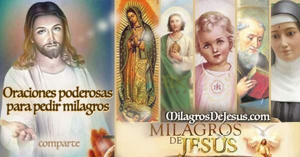 Oraciones para pedir Milagros